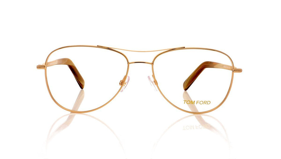 28771045b9ec Tom Ford TF5396 028 Shiny Rose Gold Glasses at OCO