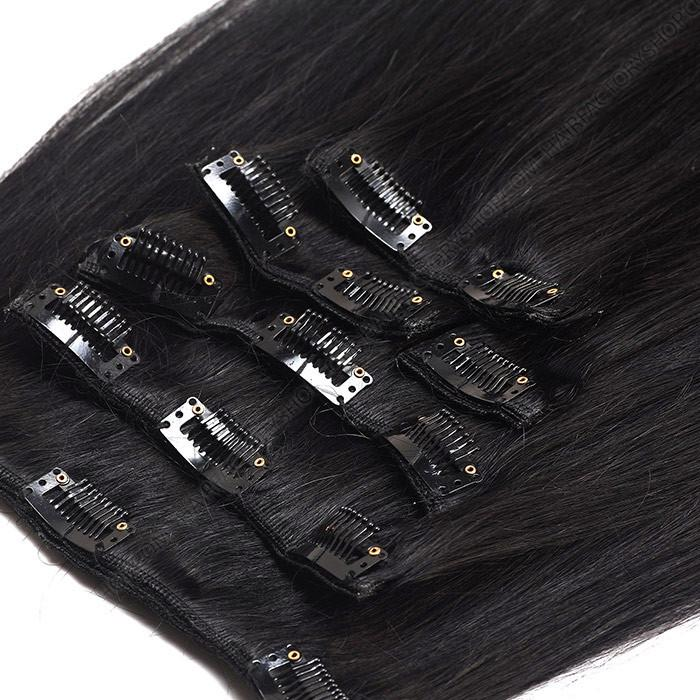 DIVINA™ 240Gr CLIP-IN 100% Naturaalsed REMY Juuksepikendused Sirged #1 Must