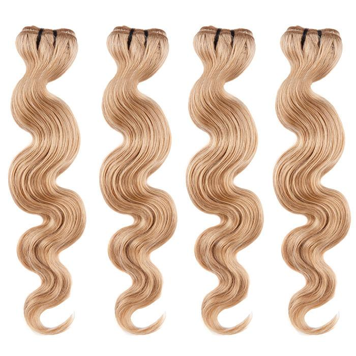 BRAZILIAN HAIR WEAVE 100% REMY Hair Body Wave #16 Dark Blonde