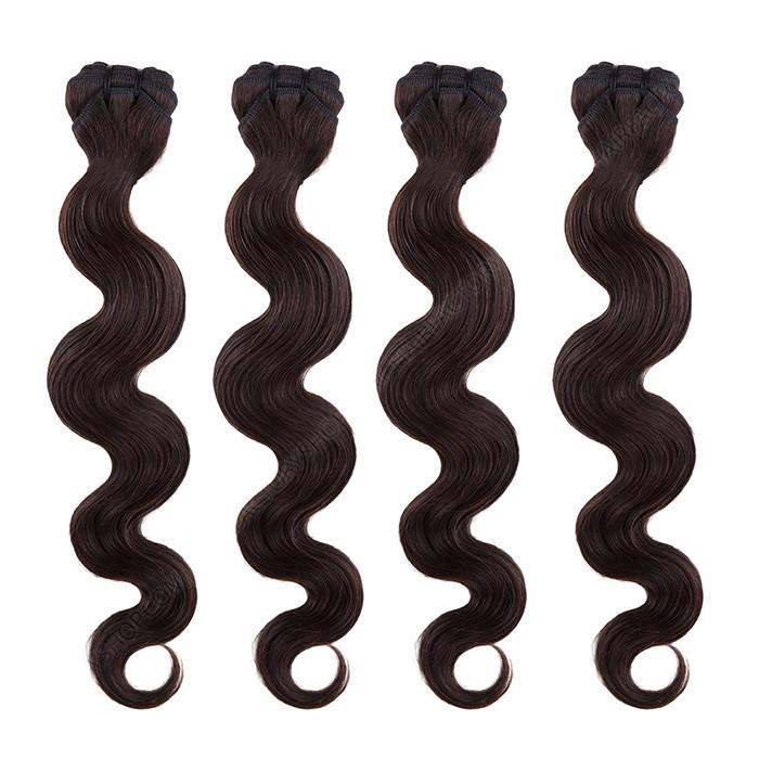 BRAZILIAN HAIR WEAVE 100% REMY Hair Body Wave #1B Dark Brown