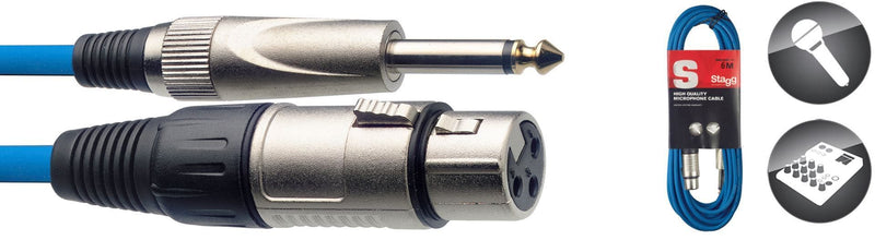 Stagg 6M/20FT MIKE CABLE XLRf-PLUG