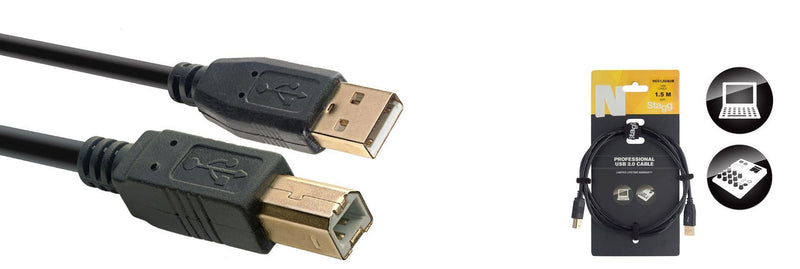 Stagg 1.5M/5FT USB CABLE/STD A-B 2.0
