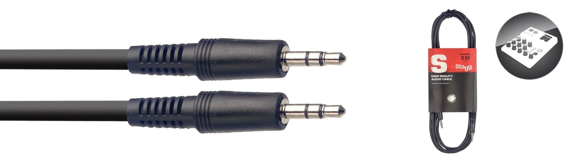 3M/10FT AUDIO mini STEREO PLUG