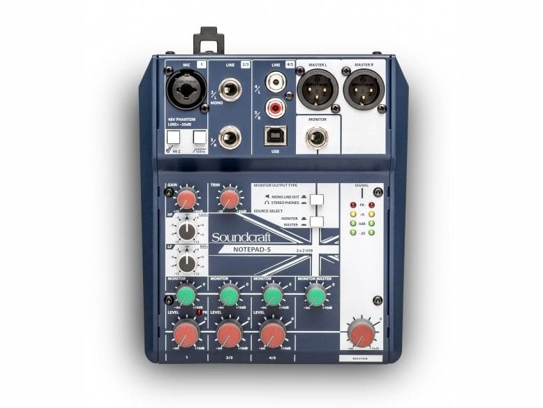 Soundcraft - Notepad-5 Analogue USB Mixer