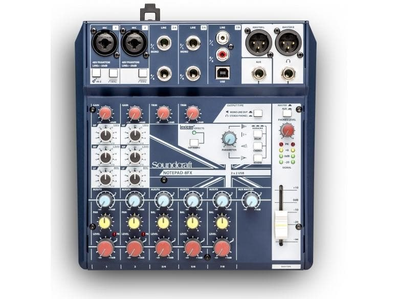 Soundcraft - Notepad-8FX Analogue USB Mixer