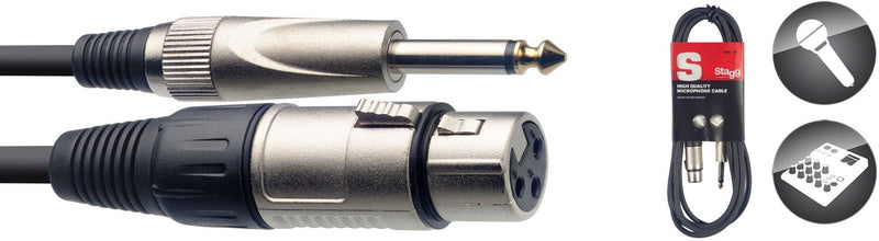 Stagg 1M/3FT MIKE CABLE XLRf-PLUG DL