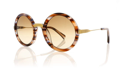 AM Eyewear Steph 100 BC-BRG Bahamas Crystal Sunglasses at OCO