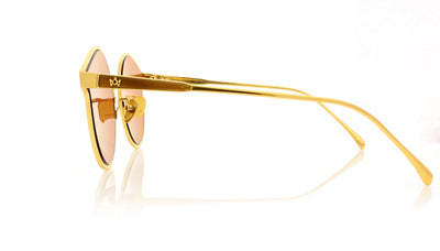 AM Eyewear Lady Farringdon 118-GD-BG Gold Sunglasses