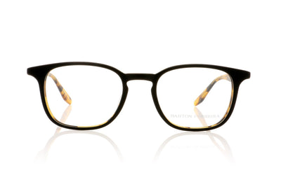 Barton Perreira Woody MBT Matte Black Amber Tortoise Glasses at OCO