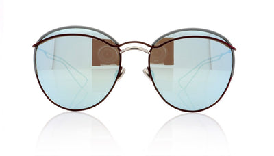 Dior Round 32V Matte Burgundy Sunglasses at OCO