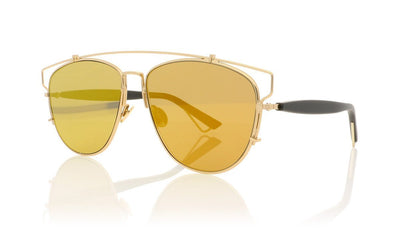 Dior Technologic RHL LNMR Gold Black Mirror Sunglasses at OCO