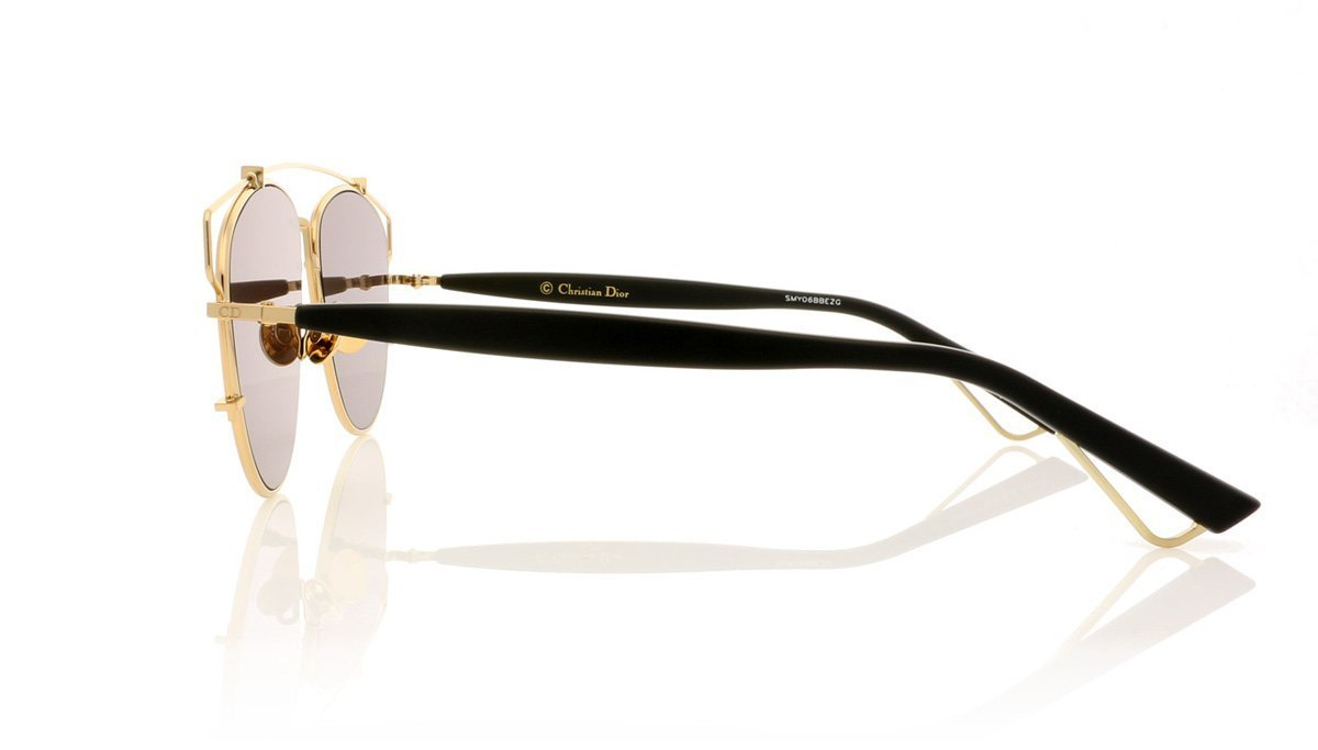 215c93e485 Dior Technologic RHL LNMR Gold Black Mirror Sunglasses at OCO