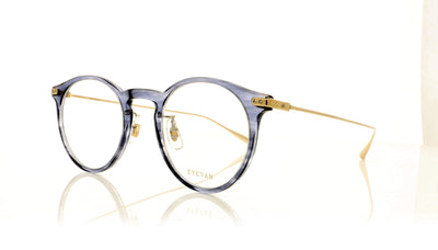 Eyevan 7285 Bliss DSEA Transparent Grey Blue Glasses at OCO