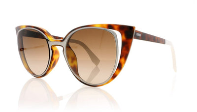 Fendi FF0136/S NY2 Ruthenium Havana Sunglasses at OCO
