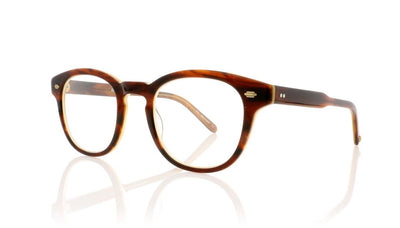 Garrett Leight Warren 1051 WHT Whiskey Tortoise Glasses at OCO