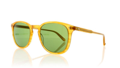 Garrett Leight Kinney 2007 BT/PGN Butterscotch Sunglasses