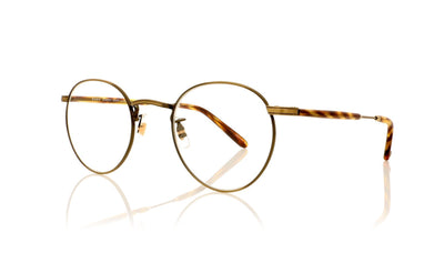 Garrett Leight Wilson M 3005 AG-PIW Antique Gold Glasses at OCO