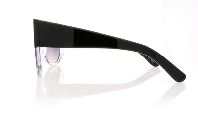 Hadid Eyewear Frequent Flyer HAD02 C3 Black & Crystal Sunglasses at OCO