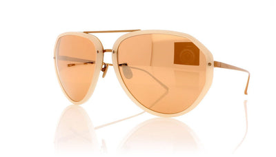 Linda Farrow LFL463 C5 Milky Pink Sunglasses at OCO