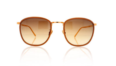 Linda Farrow LFL492 C1 Copper Alu Sunglasses at OCO