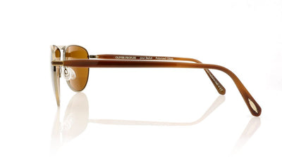 Oliver Peoples Conduit Street OV1213SQ 5039N6 Antique Gold Sunglasses at OCO