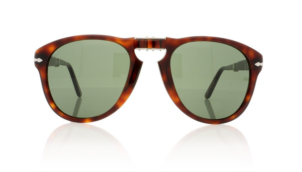 09e31591875 Persol 0OP0714 Folding 24 31 Havana Crystal Green Sunglasses at OCO