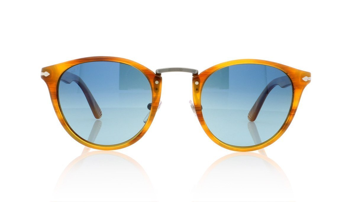 b52ed17fb3 Persol Typewriter Edition 3108-S 960 S3 Strpd Brn Sunglasses at OCO