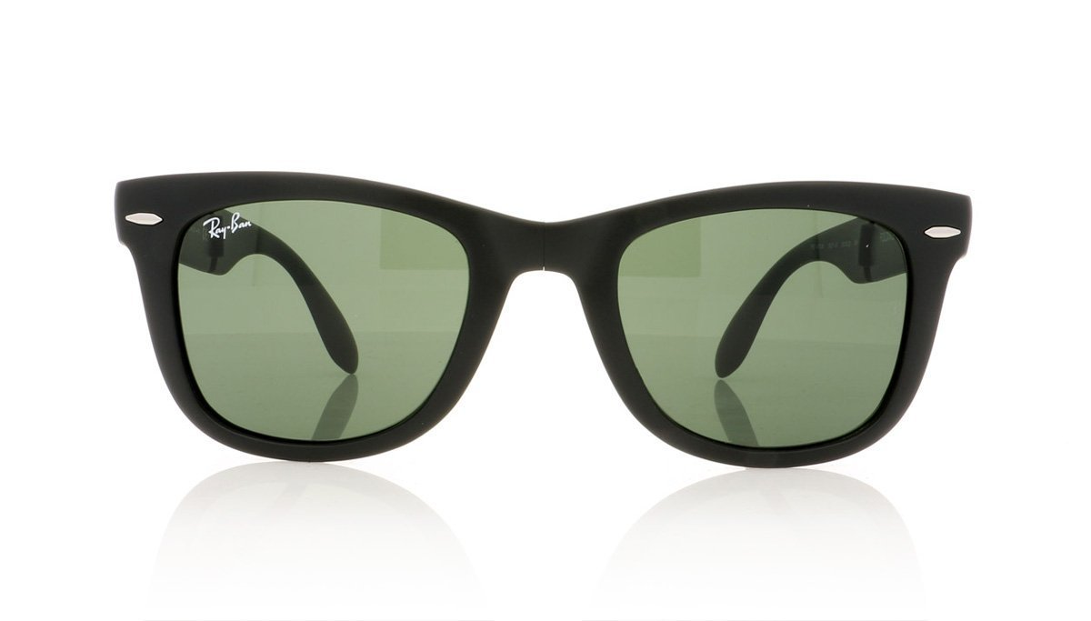 de4badc59ed ... denmark ray ban folding wayfarer rb4105 601s matte black sunglasses at  oco 915c6 a4ac2