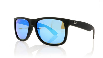 Ray-Ban Justin RB4165 622/55 Black Rubbr Sunglasses at OCO