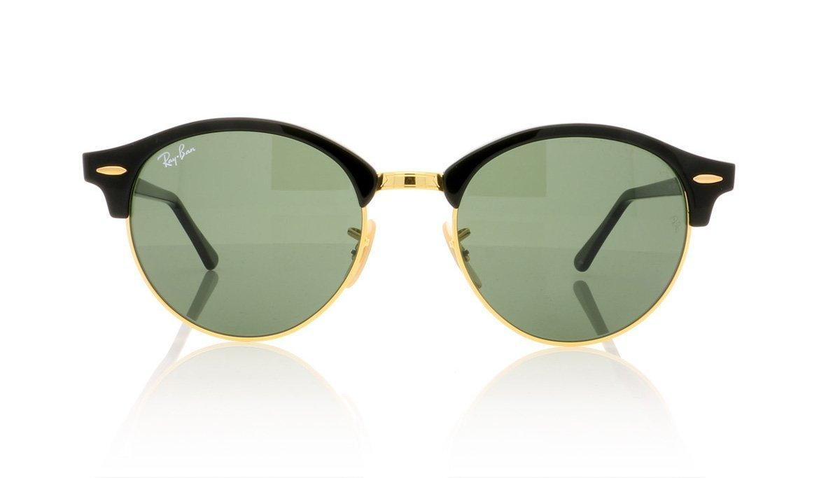c0d82747ea Ray-Ban Clubround RB4246 901 Black Sunglasses at OCO