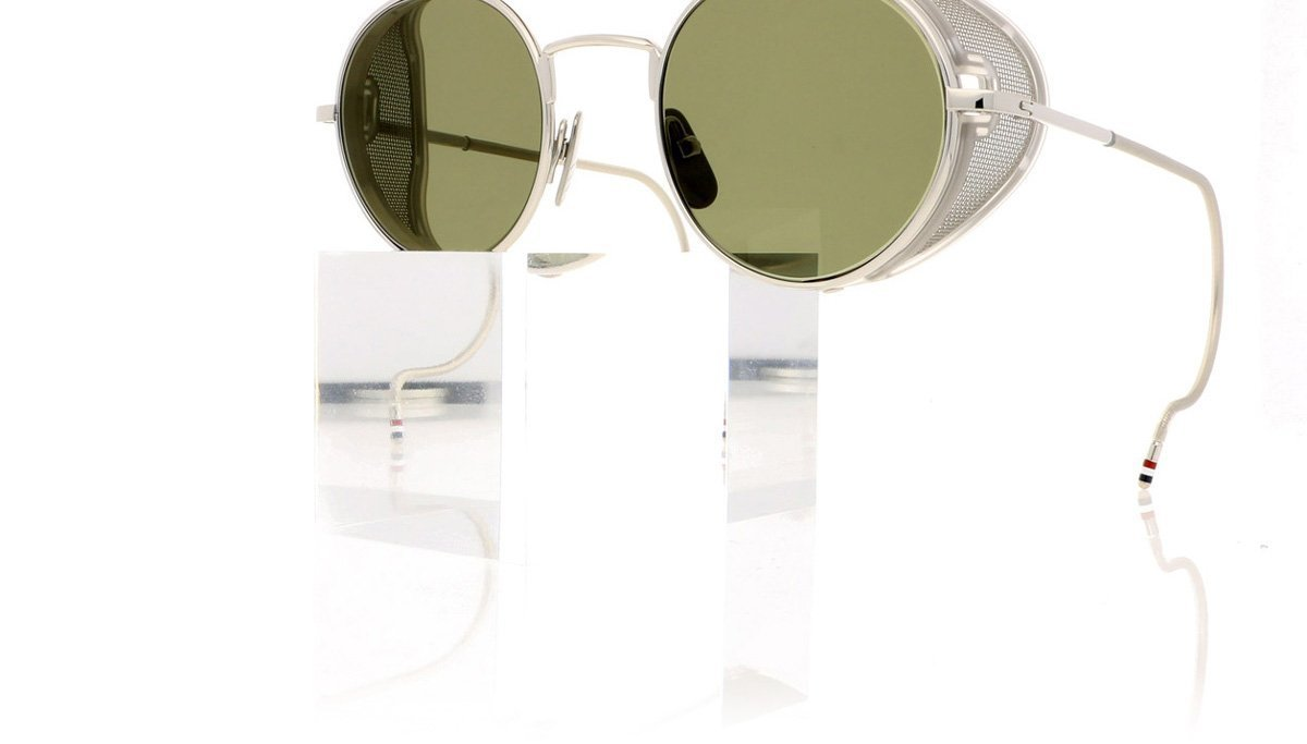 d29eecc43d3 Thom Browne TB-001 A-T Shiny Silver W Sunglasses at OCO