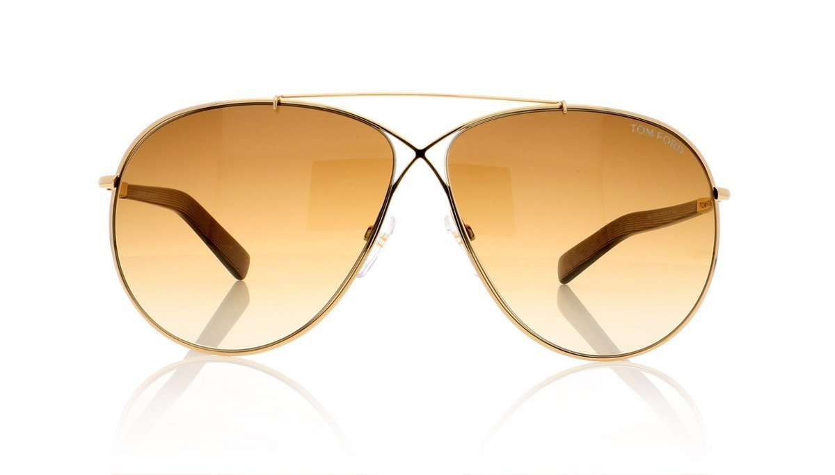 919a1524b09 Tom Ford Eva TF374 28F Shiny Rose Gold Sunglasses at OCO