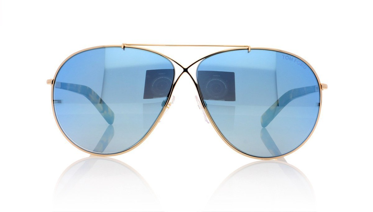 7e740995ac7 Tom Ford Eva TF374 28X Shiny Rose Gold Sunglasses at OCO