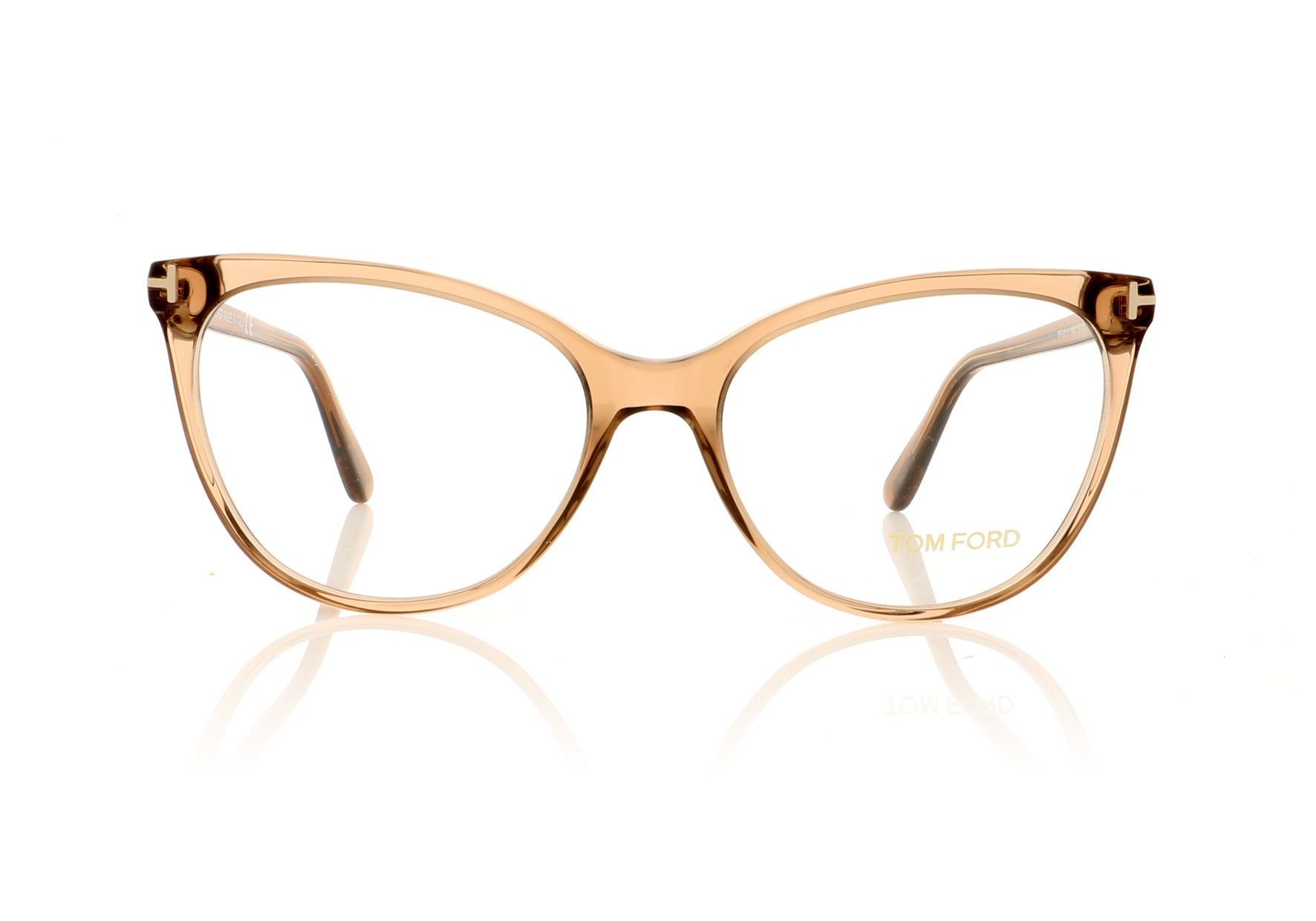 60aa87018c Tom Ford TF5513 045 Transparent Brown Glasses