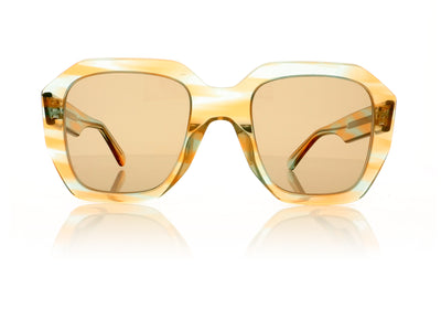 Céline CL40045I 55E Transparent Peach Blue Sunglasses