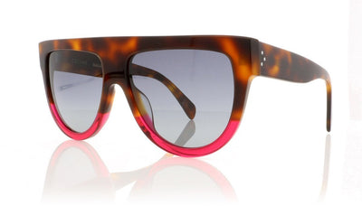 Céline Shadow CL41026/S 23A Havana Fuscia Sunglasses at OCO