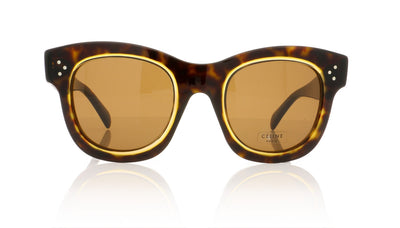 Céline Helen CL41397/S T7F Dark Havana Honey Sunglasses