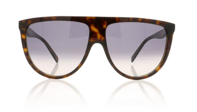 Céline Thin Shadow CL41435/S 86 Dark Havana Sunglasses at OCO