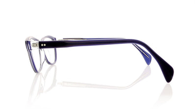 Claire Goldsmith Ellis 6 Blue Opal Glasses at OCO