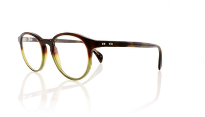 Claire Goldsmith Robinson 1 Tortoise Green Glasses at OCO