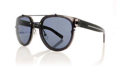 Dior Homme Blacktie 143S NL3 Grey Black Crystal Sunglasses at OCO