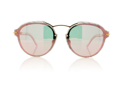 Dior Eclat GBZ White Marble Sunglasses at OCO
