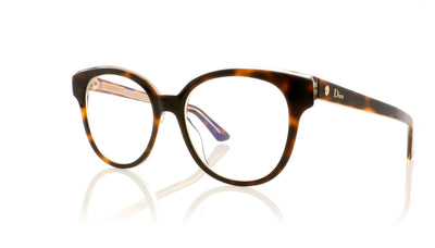 Dior Montaigne 1 G9Q Havana Glasses at OCO