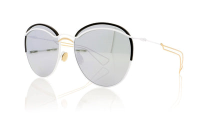 Dior Round 4U9 Matte White Sunglasses at OCO