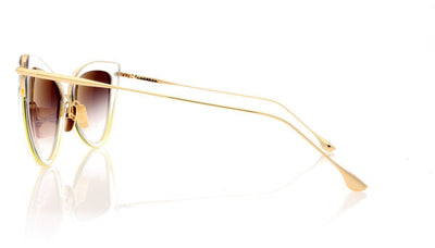 DITA Heartbreaker 22027 E Cry Clear 12K Gold Sunglasses