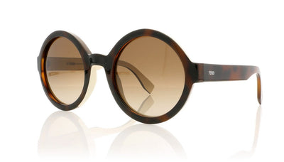 Fendi FF 0120/S FF0120/S MIY Havana Cream Sunglasses at OCO