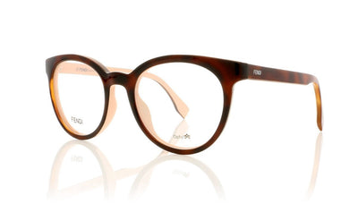 Fendi FF 0159 FF0159 TLK Havana Pink Glasses at OCO