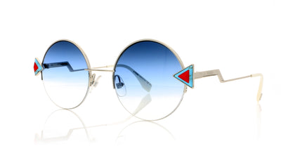 Fendi FF 0243/S SCBNE Silver Sunglasses at OCO