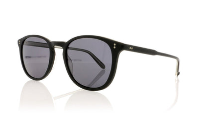 Garrett Leight Kinney 2007 MBK/G PLR Matte Black Sunglasses at OCO