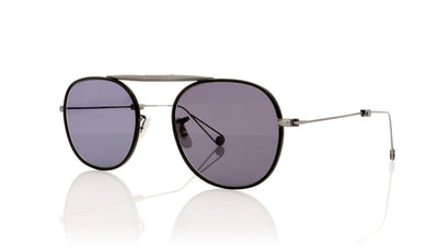 Garrett Leight Van Buren M 4008 MBK/PW/GRY Matte Black Sunglasses at OCO